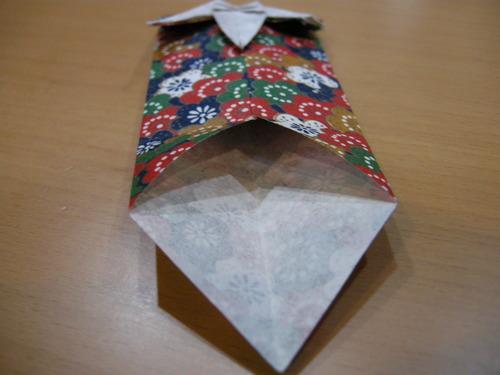 すべての折り紙 折り紙お年玉袋折り方 : こんな袋でお年玉なんて ...
