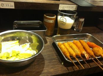 フローズン生ビールと串カツ