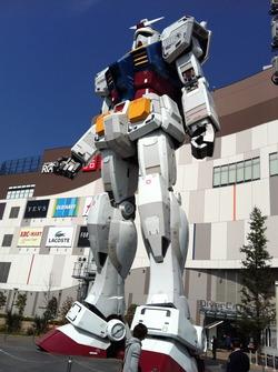 ダイバーシティ東京プラザのガンダム見学