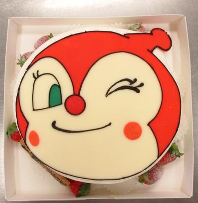 ドキンちゃん顔型ケーキ